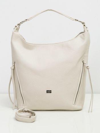 Jasnobeżowa torba na ramię city bag