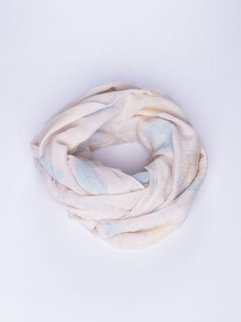 Jasnobeżowy lekki szal z delikatnym haftem