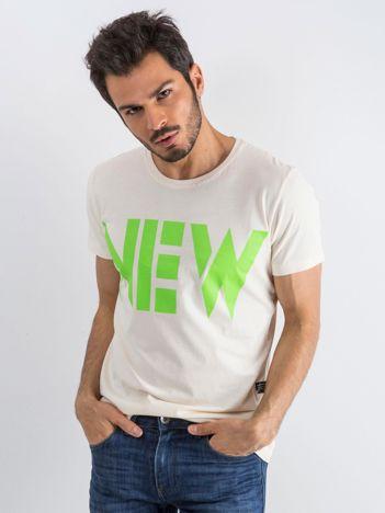 Jasnobeżowy męski t-shirt Public