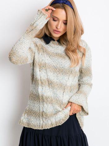 Jasnobeżowy sweter Ballerina