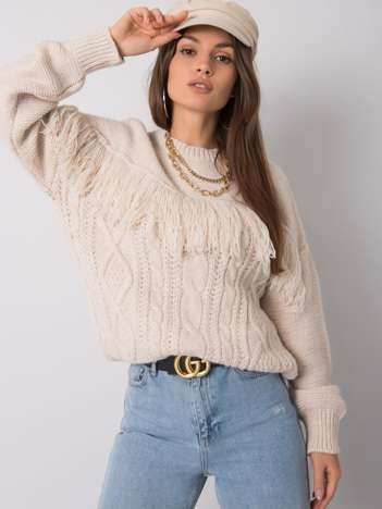 Jasnobeżowy sweter Maddie RUE PARIS