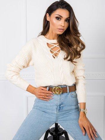 Jasnobeżowy sweter Marina