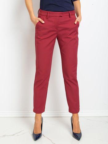 Jasnobordowe spodnie Classy
