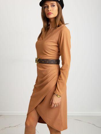 Jasnobrązowa sukienka Fireside