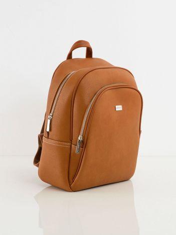 Jasnobrązowy plecak z ekoskóry