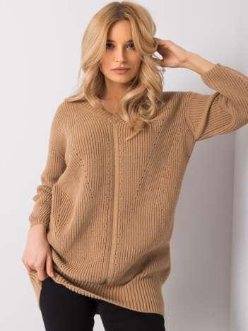 Jasnobrązowy sweter Roberta RUE PARIS