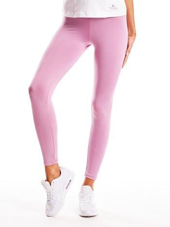 Jasnofioletowe długie cienkie legginsy do biegania