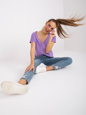 Jasnofioletowy t-shirt Emory