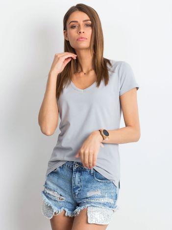 Jasnografitowy t-shirt Square