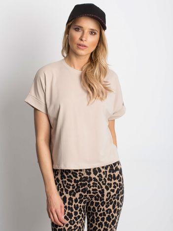 Jasnokawowy t-shirt Woodland
