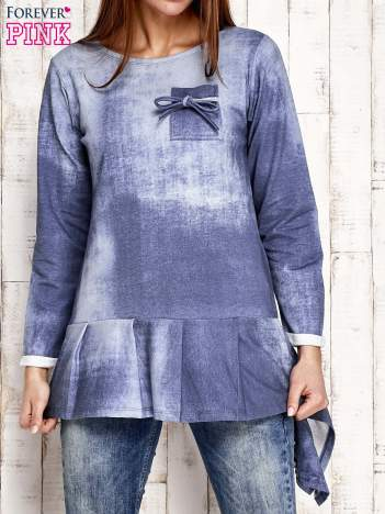 Jasnoniebieska asymetryczna tunika