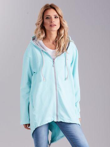 Jasnoniebieska bawełniana bluza z kapturem