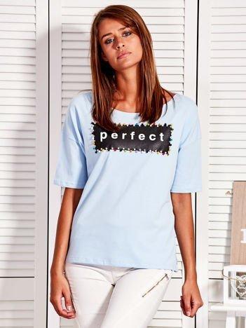 Jasnoniebieska bluzka PERFECT