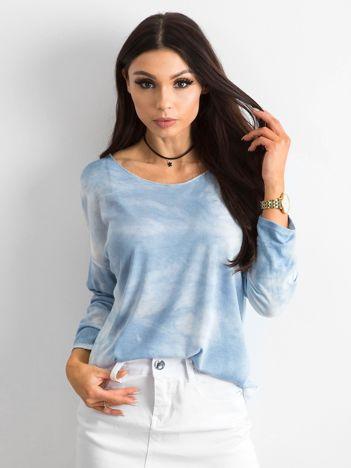 dce1d613282e Jasnoniebieska bluzka damska z długim rękawem