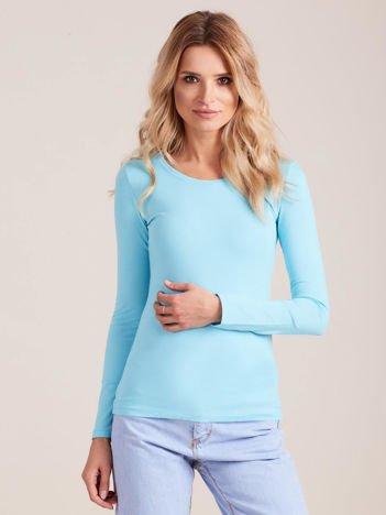 Jasnoniebieska bluzka z długim rękawem