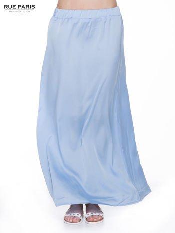 Jasnoniebieska długa spódnica maxi