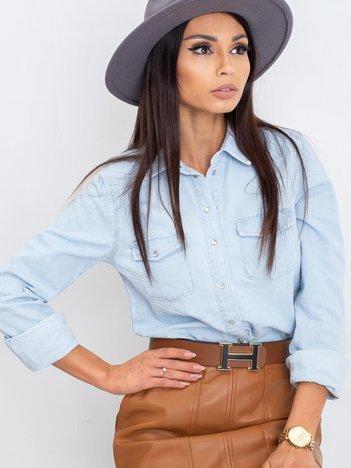 Jasnoniebieska koszula Jannice