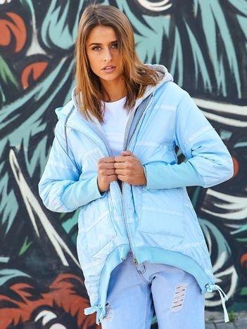 Jasnoniebieska kurtka z szerokimi ściągaczami