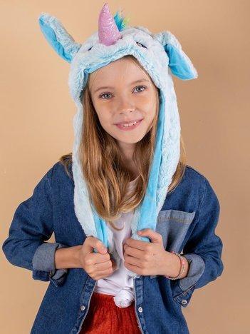 Jasnoniebieska pluszowa czapka