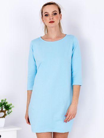 Jasnoniebieska sukienka z suwakiem