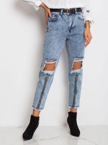 Jasnoniebieskie jeansy Crystal