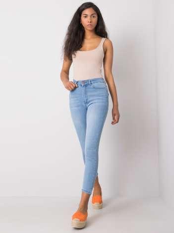 Jasnoniebieskie jeansy slim Ranielle