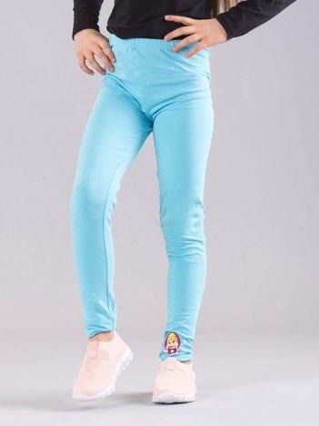 Jasnoniebieskie legginsy dziewczęce MASZA I NIEDŹWIEDŹ