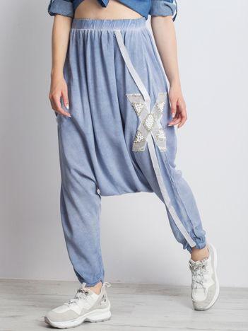 Jasnoniebieskie spodnie Trance