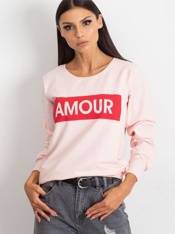 Jasnoróżowa bluza damska AMOUR