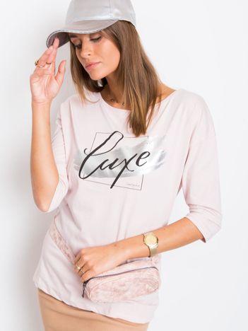 Jasnoróżowa bluzka Luxe