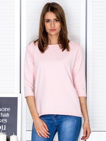 Jasnoróżowa bluzka z bocznymi suwakami