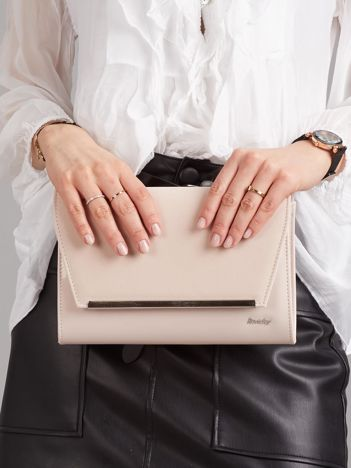 Jasnoróżowa damska torebka kopertówka