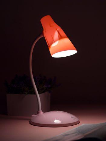 Jasnoróżowa dotykowa lampka biurkowa LED USB