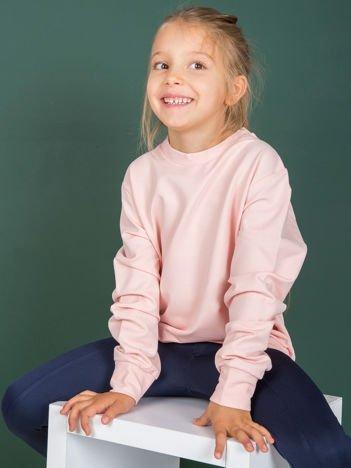 Jasnoróżowa gładka bluza dziecięca