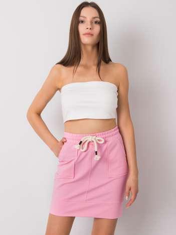 Jasnoróżowa spódnica dresowa Amelia