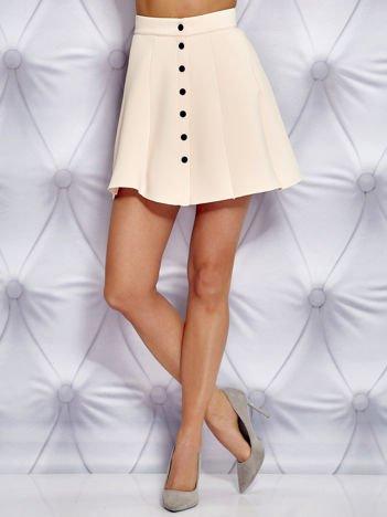 Jasnoróżowa spódnica z pianki z guzikami