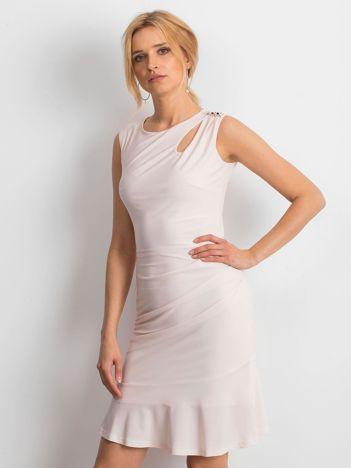 Jasnoróżowa sukienka Handle