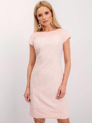 Jasnoróżowa sukienka Honey