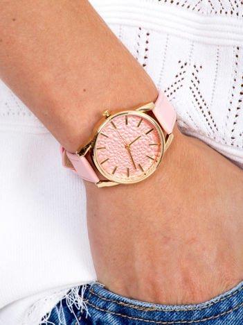 Jasnoróżowy Damski Zegarek Z Perłową Ozdobną Tarczą