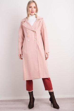 Jasnoróżowy płaszcz damski BSL