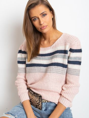 Jasnoróżowy sweter Attitiude