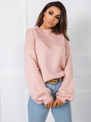 Jasnoróżowy sweter Dionne