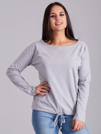 Jasnoszara bawełniana bluzka