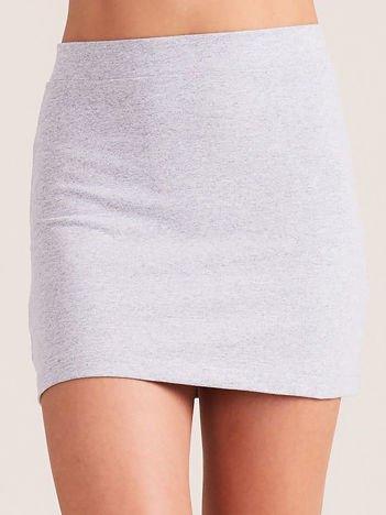 Jasnoszara dresowa spódnica mini