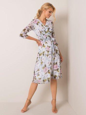 Jasnoszara sukienka Lisa
