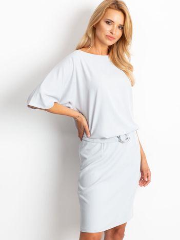 Jasnoszara sukienka Soft