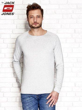 Jasnoszary sweter męski basic
