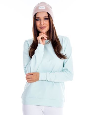 Jasnoturkusowa bluza damska basic