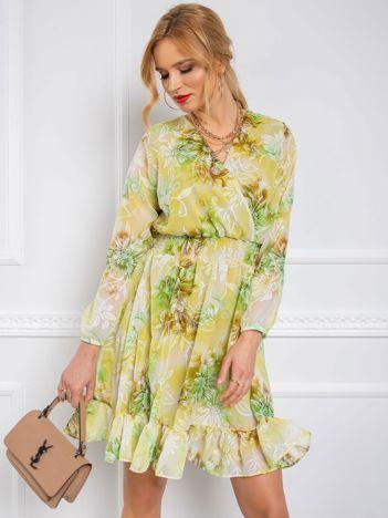 Jasnozielona sukienka Spring RUE PARIS