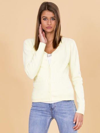 Jasnozielony zapinany sweter